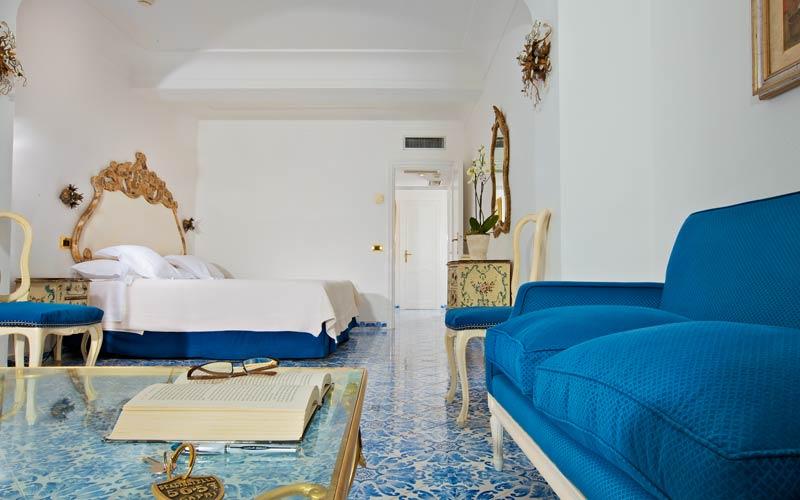capri hotel scalinatella - prezzi camere vista mare - Camera Da Letto Blu Notte